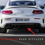 2019 Mercedes-Benz C63 AMG diffuser