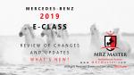 2019 E-Class MBZ Master Intro