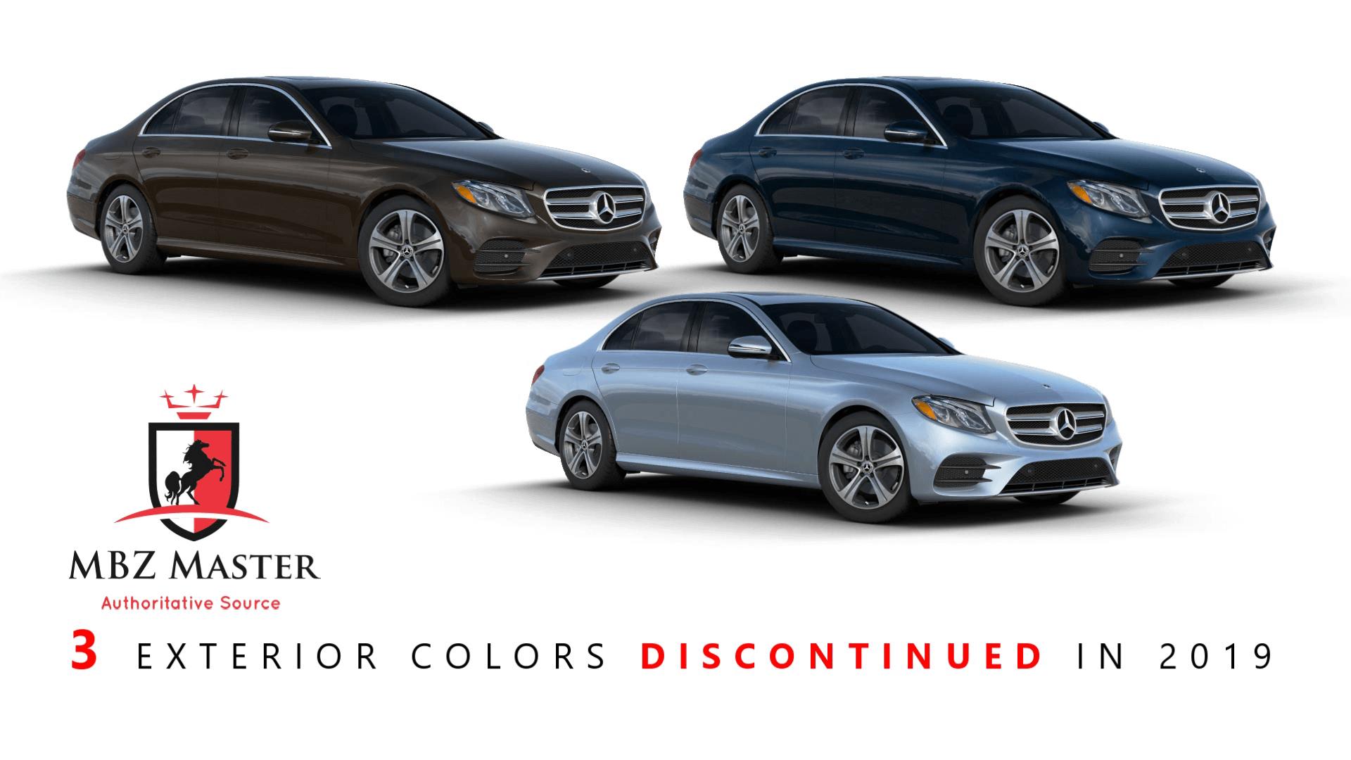 2019 Mercedes E-Class Discontinued colors