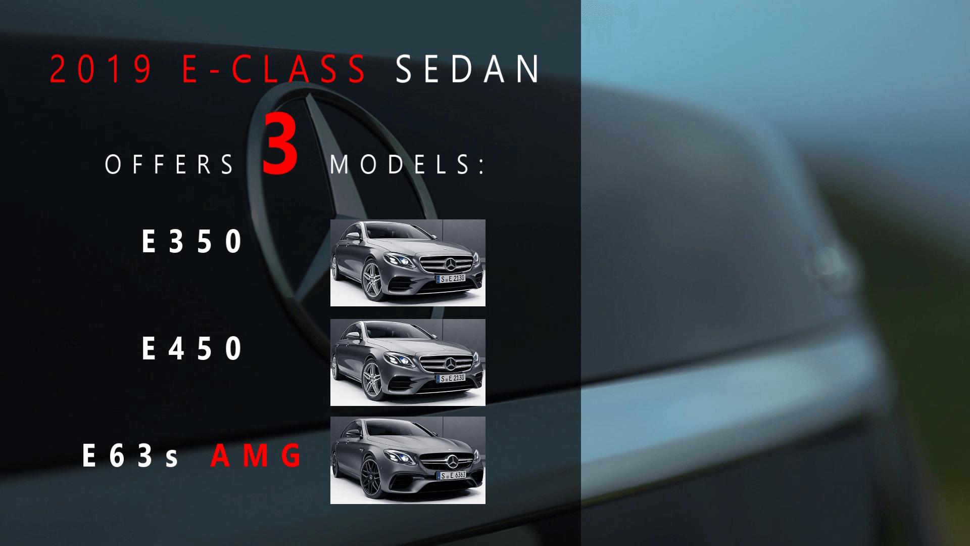 2019 Mercedes E-Class Models