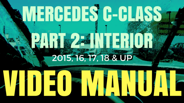 Mercedes C-Class Video Manual Part 2