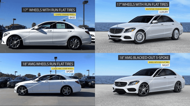 C-Class Base vs. Luxury vs. Sport vs. Night package