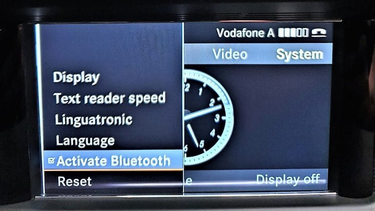 Mercedes Bluetooth Menu